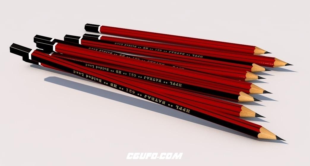 特拉吉铅笔C4D模型 Natraj Pencil 3ds Model