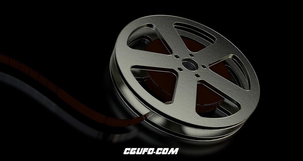 电影胶片卷轴C4D模型 Film Spool