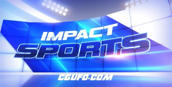 7829体育类电视栏目包装动画AE模版,Impact Sports Motion Broadcast Package
