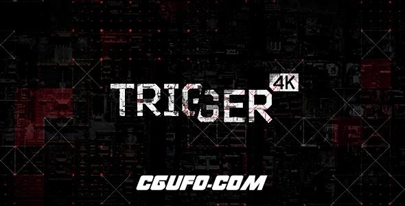 7848HUD高科技元素包装动画AE模版,Trigger – HUD Elements Pack