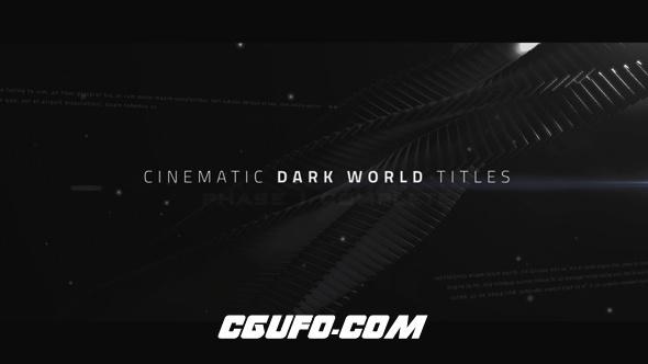 7849电影文字标题动画AE模版,Cinematic Titles – Dark World