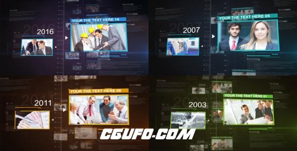 7855企业公司历史发展宣传视频动画AE模版,History Motion Promo