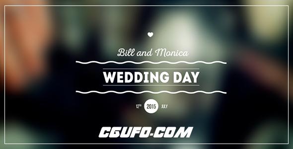 7865-11组婚礼文字标题动画AE模版,Wedding Titles Pack