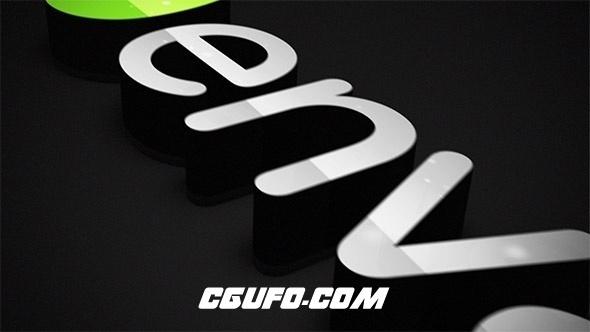 7867简洁挤出3D文字logo演绎动画AE模版,Elegant Extrusion