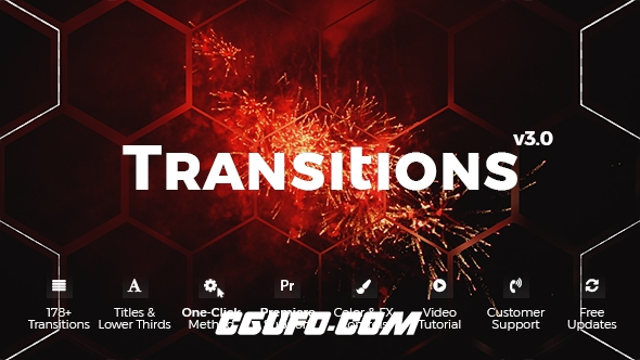 7869转场特效文字标题动画AE模版,Transitions