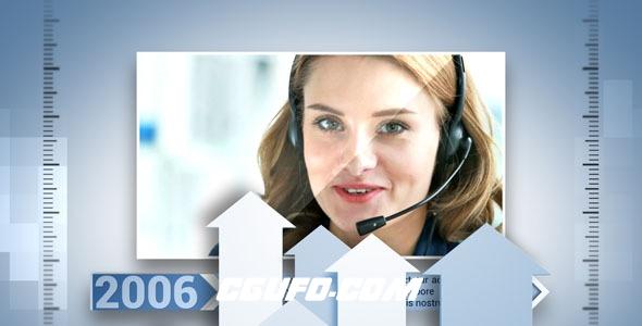 7884企业公司宣传时间线动画AE模版,Corporate Timeline