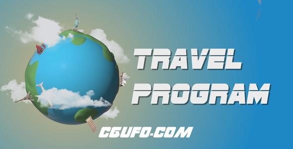 7888旅游旅行电视栏目包装动画AE模版,Travel Program Broadcast