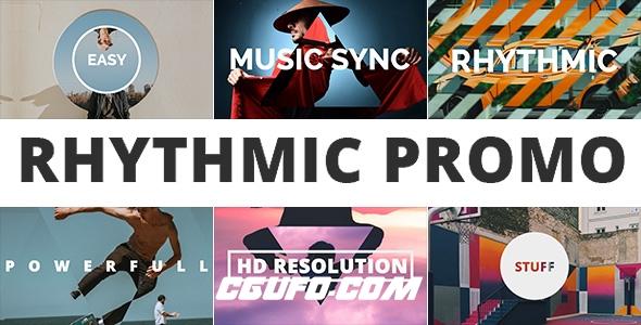 7890图片视频开场动画AE模版,Rhythmic Promo
