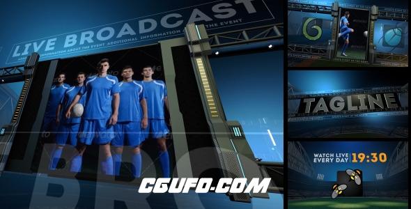 7896体育类风格电视栏目包装动画AE模版,Sports Arena Promo Package