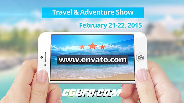 7901海滩旅游宣传包装片头动画AE模版,Travel Commercial