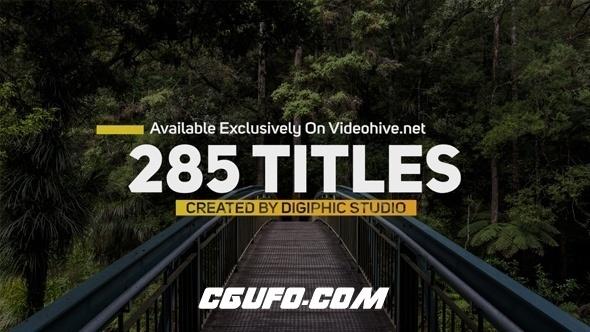 7907迷你文字标题动画AE模版,Titles Animation