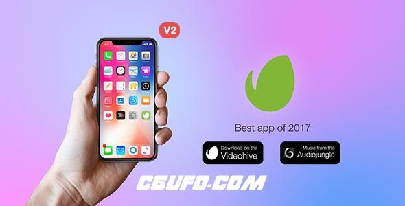 7909人物演示Phone X手机产品介绍动画AE模版,Phone X // App Promo Kit
