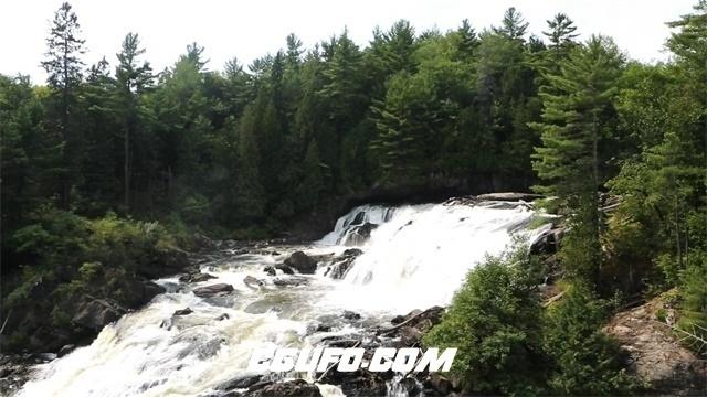 3637溪水瀑布流水高清实拍视频素材