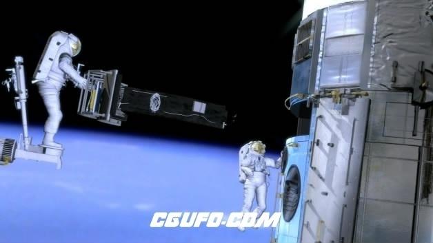 3668宇航员在太空遨游高清实拍视频素材