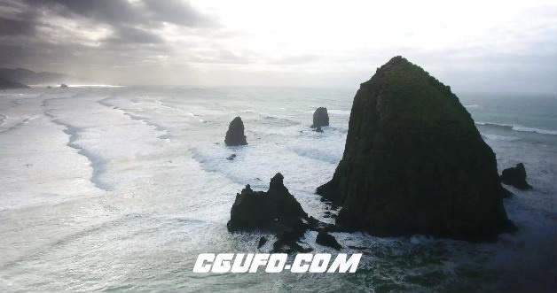 3671-4K大海岛礁岩石高清实拍视频素材