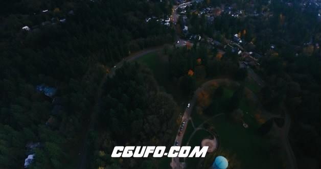 3672-4K航拍城市交通公路高清实拍视频素材