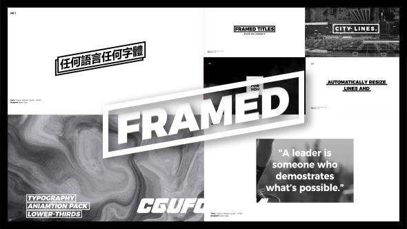 7981创意文字标题动画AE模版,Framed Titles
