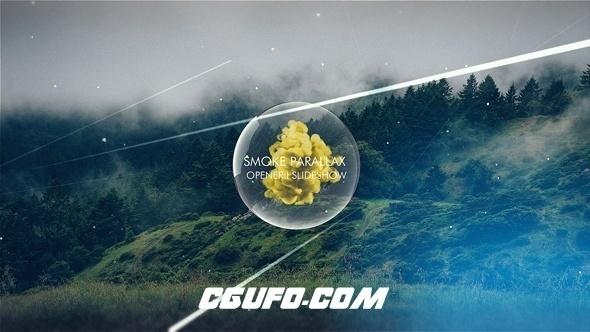8009烟雾特效视频图片包装动画AE模版,Smoke Parallax Opener I Slideshow