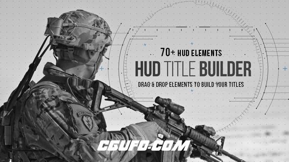 8103HUD界面军事文字标题动画特效AE模版,HUD Title Builder