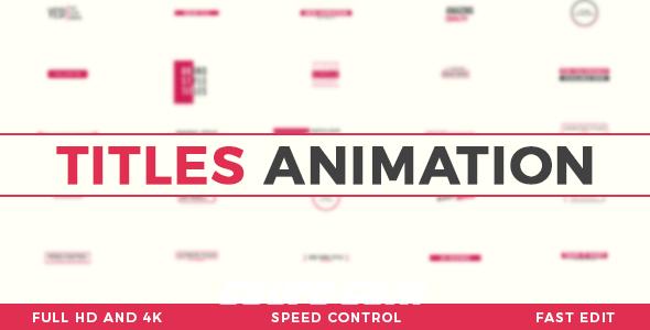8013文字标题动画AE模版,Titles Animation