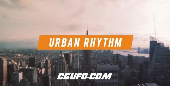 8015城市宣传片视频包装动画AE模版,Urban Rhythm | Modern Opener