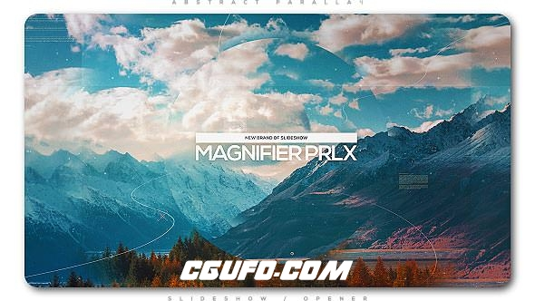 8025唯美幻灯片图片展示动画AE模版,Magnifier Parallax Slideshow