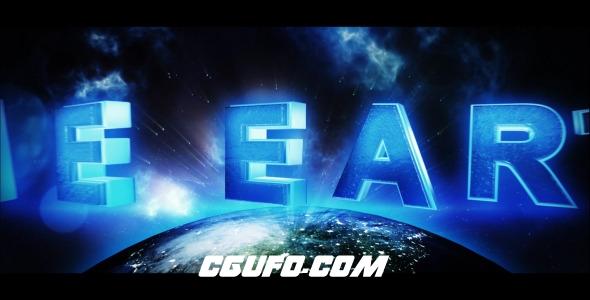 8028地球3D文字标题动画AE模版,The Earth – Trailer