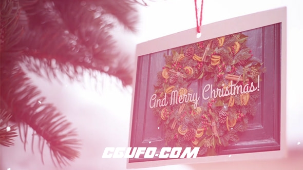 8043圣诞节图片展示动画AE模版,Christmas Slideshow
