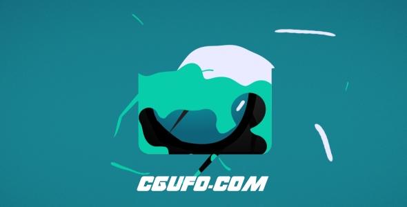 8044流体特效logo演绎动画AE模版,Liquid Logo Revealer