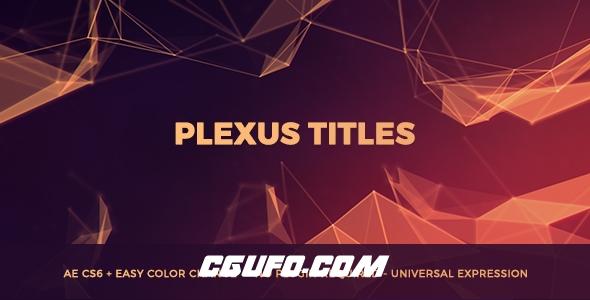 8076Plexus粒子特效背景文字标题动画AE模版,Plexus Titles