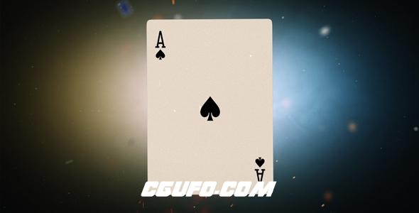8084扑克卡片汇聚logo演绎动画AE模版,Flying Cards Logo Reveal