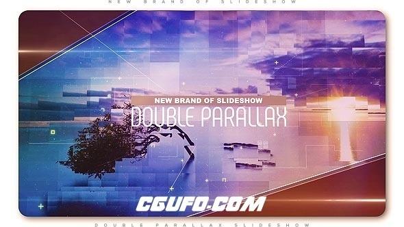 8086唯美大气图片展示动画AE模版,Double Parallax Slideshow