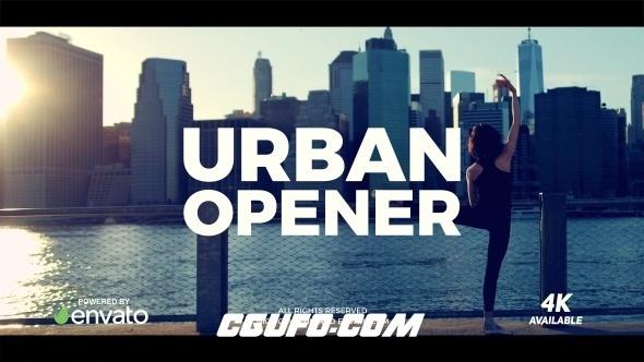 8087城市宣传片视频动画AE模版,Urban Opener