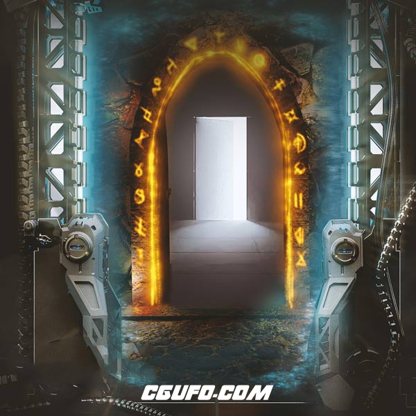 VIP专享科幻传送门石门开门关门无损音效