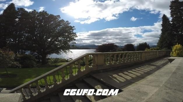 3707-城市美景蓝天白云江水湖面高清实拍视频素材