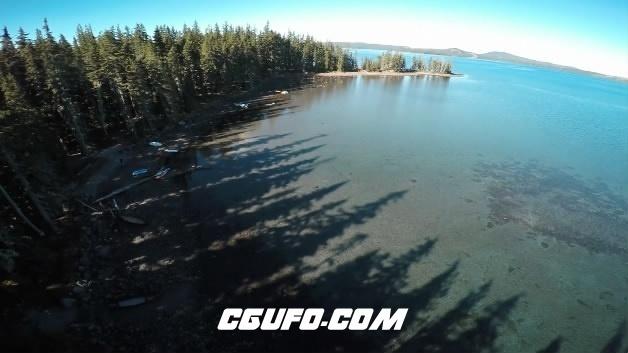 3772唯美的河水石子森林高清实拍视频素材