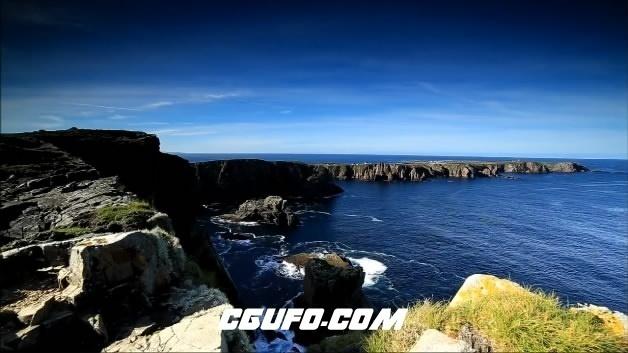3810蓝天白云绿水美景高清实拍视频素材