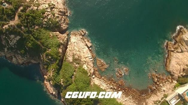3843-4K航拍海上岛屿高清实拍视频素材