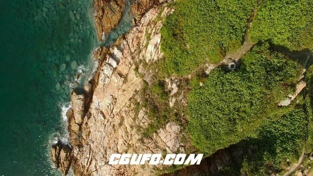 3845-4K航拍大海岛屿美景高清实拍视频素材