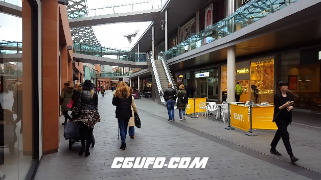 3846-4K城市步行街人物穿行高清实拍视频素材