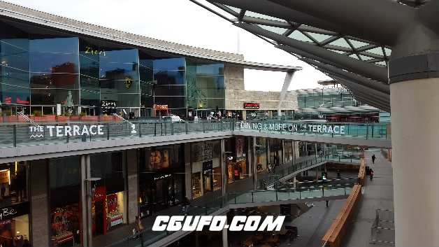 3847-4K步行街商场高清实拍视频素材