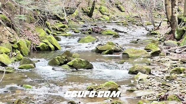 3861溪水岩石高清实拍视频素材