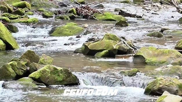 3862溪水岩石高清实拍视频素材