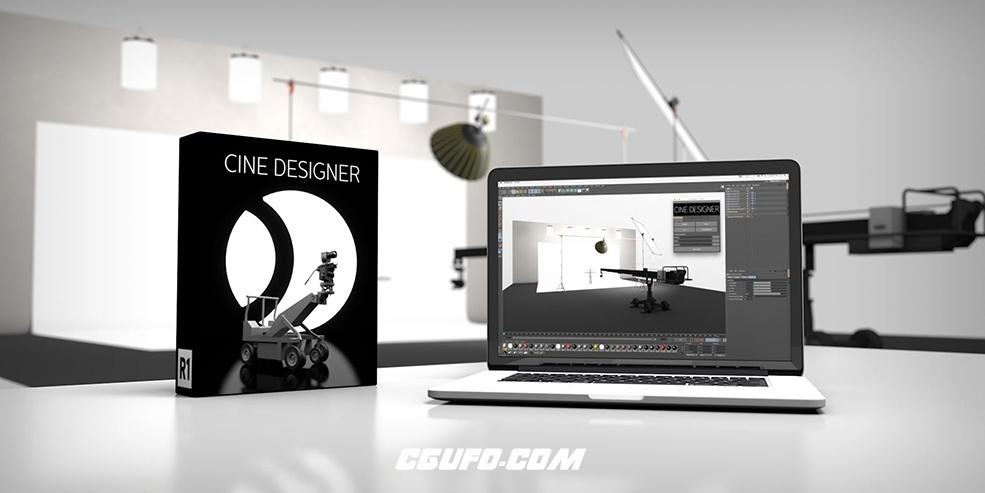 C4D电影摄影棚道具插件预设 CinematographyDB CineDesigner R2