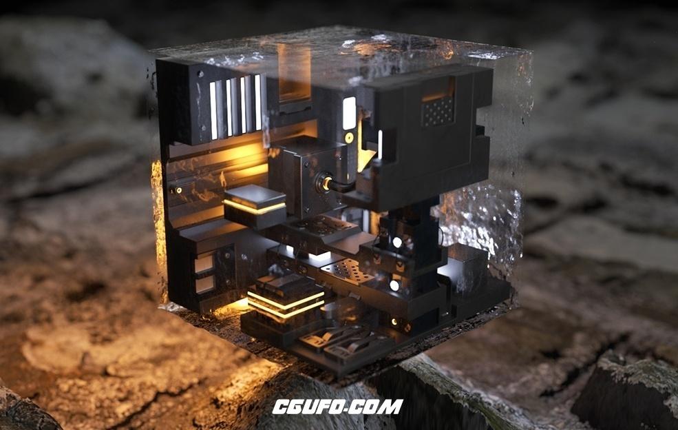 C4D多边形模型布尔插件 TGS MeshBoolean v1.5 For Cinema 4D R17/R18/R19 Win/Mac
