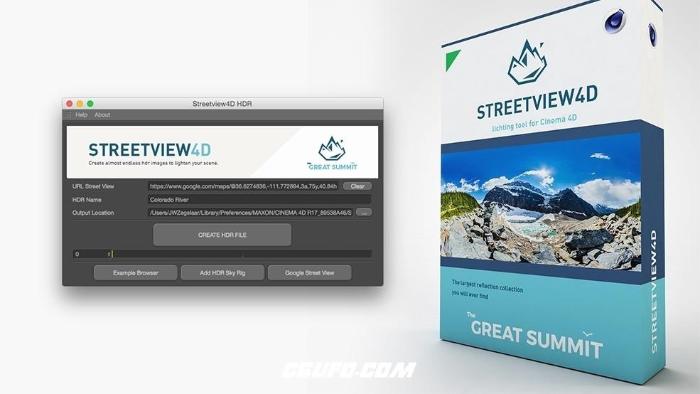 C4D谷歌街景图全景环境制作插件 TGS Streetview4D v1.2 For Cinema 4D Win/Mac