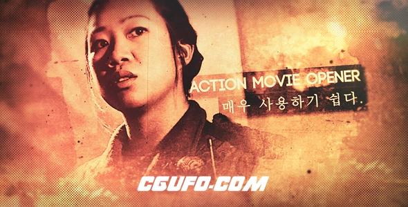 8174动作电影宣传片人物介绍定格片头AE模版,Action Movie Opener