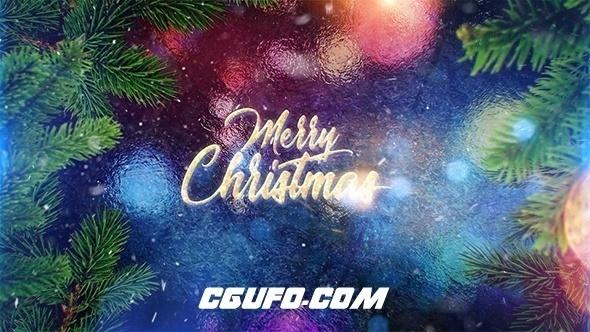 8179圣诞节粒子文字标题片头AE模版,Christmas Greeting Titles
