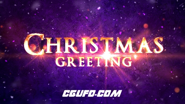 8181圣诞节粒子文字标题片头AE模版,Christmas Greetings