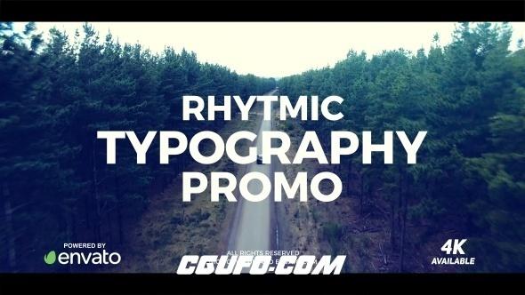 8188创意文字特效动画AE模版,Typography Promo